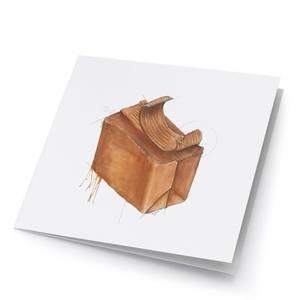 Bilde av små kunstkort med brunost